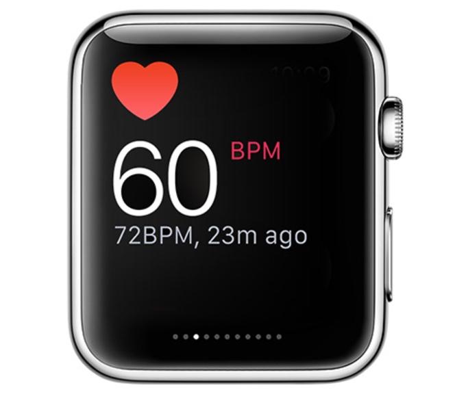 Heart rate in Apple Watch